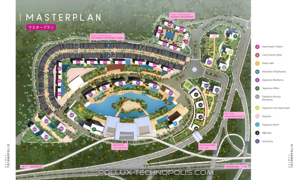 Master Plan Pollux Technopolis Karawang