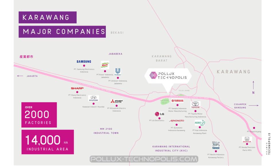 Peta Lokasi Pollux Technopolis Karawang